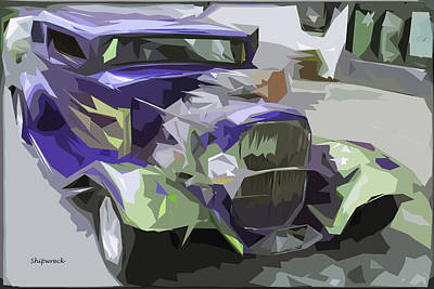 Pittsburgh According To Ron Magnes - Purple Hot Rod by Christopher Bage