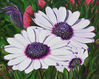 Painting - Purple Punch by Donna  Manaraze