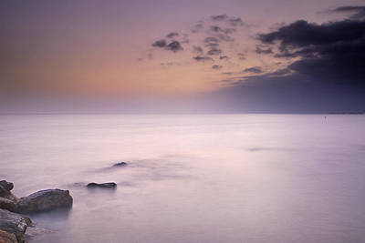 Purple Sunset At The Storm Art Print by Guido Montanes Castillo