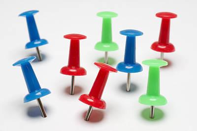 Ball Pen Work Photograph - Push Pins by Donald  Erickson