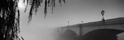 Putney Bridge During Fog, Thames River Art Print by Panoramic Images