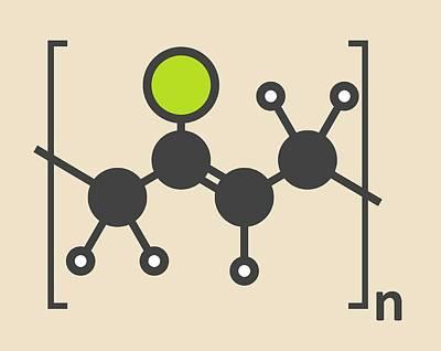 Polymer Photograph - Pvc Plastic Polymer Molecule by Molekuul