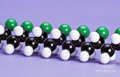 Polymer Photograph - Pvc Polymer, Molecular Model by Martyn F. Chillmaid