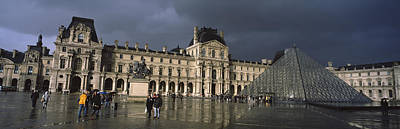Pyramid In Front Of A Museum, Louvre Art Print by Panoramic Images