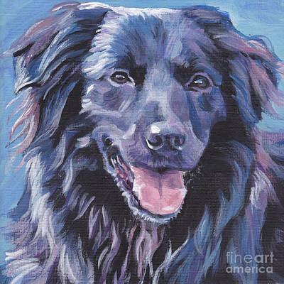 Painting - Pyrenean Shepherd  by Lee Ann Shepard