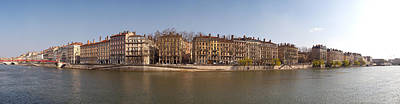Saone River Photograph - Quai Du Marechal Joffre Along The Saone by Panoramic Images
