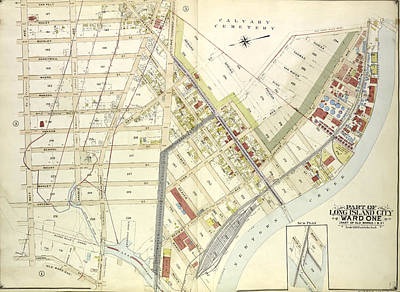 Greenpoint Drawing - Queens, Vol. 2, Double Page Plate No. 4 Part Of Long Island by Litz Collection