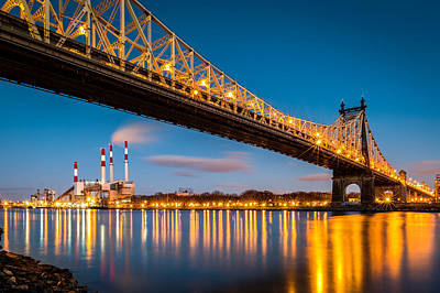 Photograph - Queensboro Bridge And Ravenswood Station by Mihai Andritoiu