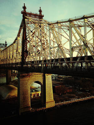City Digital Art - Queensboro Bridge by Natasha Marco