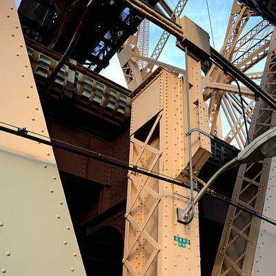 Trussed Painting - Queensborough Bridge Supports by Kathrine R Mitchell
