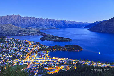 Remarkable Photograph - Queenstown And The Remarkables Twilight by Colin and Linda McKie