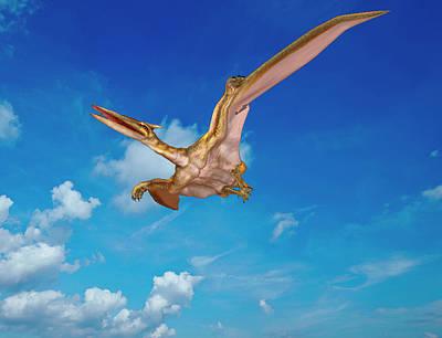 Quetzalcoatlus Pterosaur Art Print by Friedrich Saurer