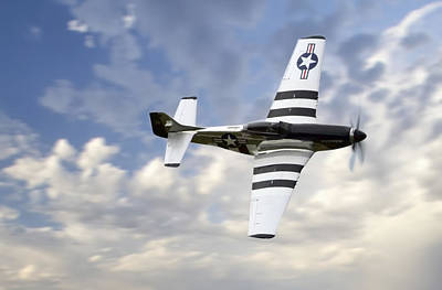 P-51 Mustang Photograph - Quick Silver P-51 by Peter Chilelli