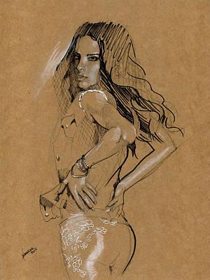Quick Sketch Art Print by Luis  Navarro