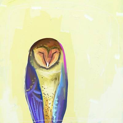Wall Art - Painting - Quiet Owl by Cathy Walters