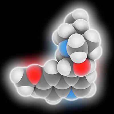 Quinine Drug Molecule Art Print by Laguna Design