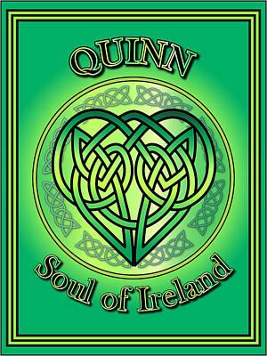 Quinn Soul Of Ireland Art Print