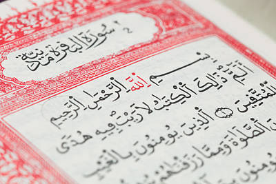 Law Books Photograph - Quran Text by Tom Gowanlock