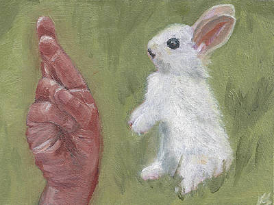 Painting - R Is For Rabbit by Jessmyne Stephenson
