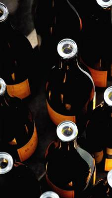 Big Wine Bottles Photograph - R Stuart Bottles 21152 by Jerry Sodorff