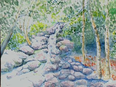 Painting - Race Brook Falls by Craig Calabrese