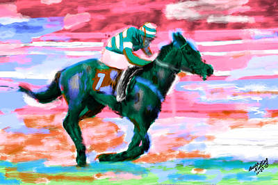 Horse Painting - Race Horse by Bruce Nutting