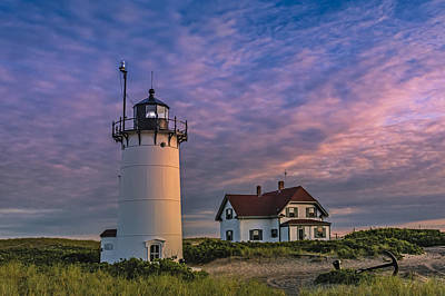 Keepers House Photograph - Race Point Lighthouse Sunset by Susan Candelario