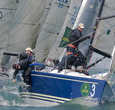 Sail Racing Photograph - Racing Action by Steven Lapkin