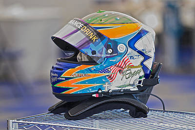 Sports Royalty-Free and Rights-Managed Images - Racing Helmet 2 by Dave Koontz