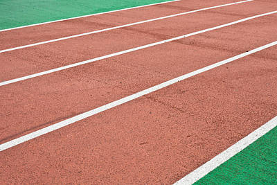 Athlete Photograph - Racing Track by Tom Gowanlock