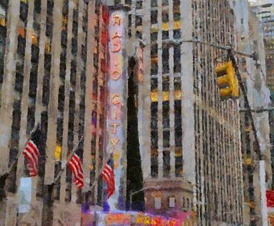 Tourist Attraction Painting - Radio City Music Hall by Dan Sproul