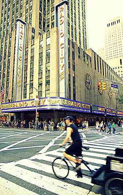 Photograph - Radio City Music Hall by Valentino Visentini