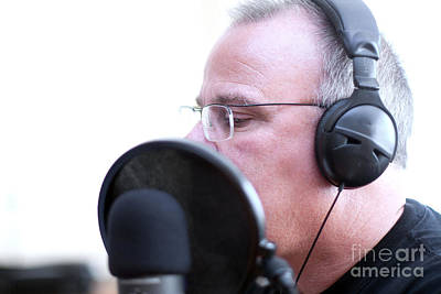 Photograph - Radio Host With Head Phones by Gunter Nezhoda
