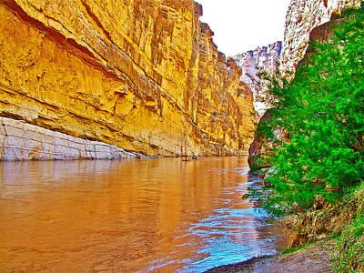 Rafting In Santa Elena Canyon In Big Bend National Park-texas Art Print