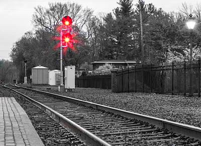Rail Road Tracks Art Print