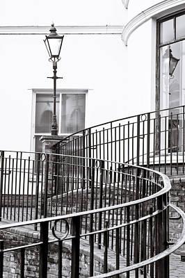 Railings And Lamp Art Print by Tom Gowanlock