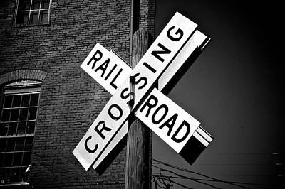 Of Trains Photograph - Railroad Crossing by Brandon Addis