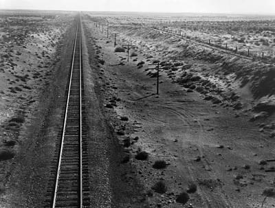 Photograph - Railroad Tracks, 1939 by Granger