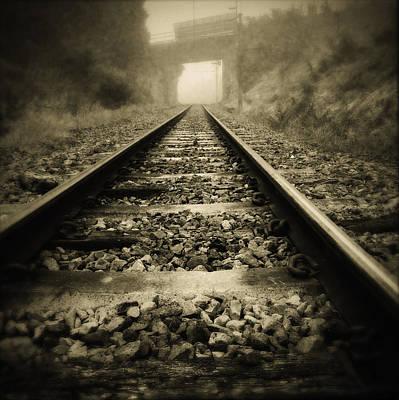 Railroads Photograph - Railway Tracks by Les Cunliffe