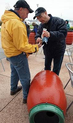 Rain Barrel Photograph - Rain Barrel Workshop by Jim West