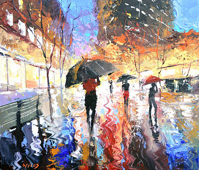 Painting - Rain by Dmitry Spiros