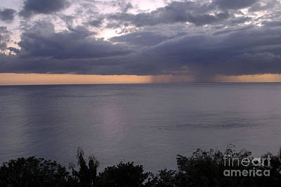 Photograph - Rain On The Ocean by Angela Kail