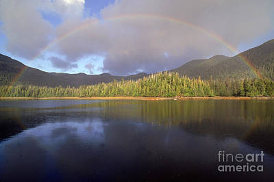 Queen Charlotte Islands Photograph - Rainbow by Art Wolfe