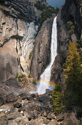 Photograph - Rainbow At Lower Yosemite Falls by Connie Cooper-Edwards