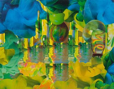 Mixed Media - Rainbow Factory by Denise Mazzocco