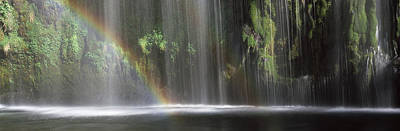 Double Rainbow Photograph - Rainbow Formed In Front Of Waterfall by Panoramic Images