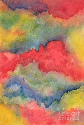 Painting - Rainbow Mountains by Laura Hamill