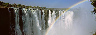 Victoria Falls Photograph - Rainbow Over Victoria Falls, Zimbabwe by Panoramic Images