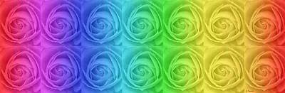 Landscape Painting - Rainbow Roses by George Rossidis