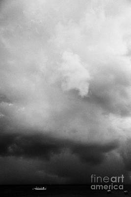 Rainstorm Thunderstorm Storm Clouds Approaching Key West Florida Usa Art Print